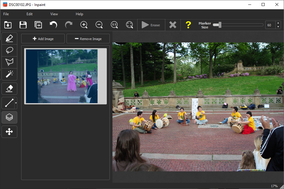 The easiest way to remove moving objects and people from your digital photographs
